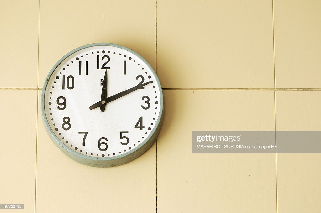 Clock on a wall