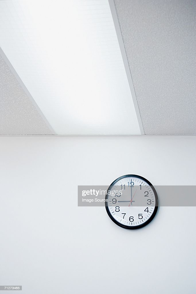 Clock on office wall