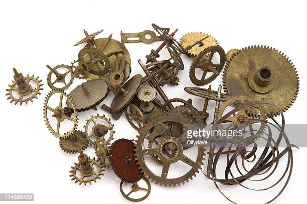 Clock Parts Cogs Wheels And Springs
