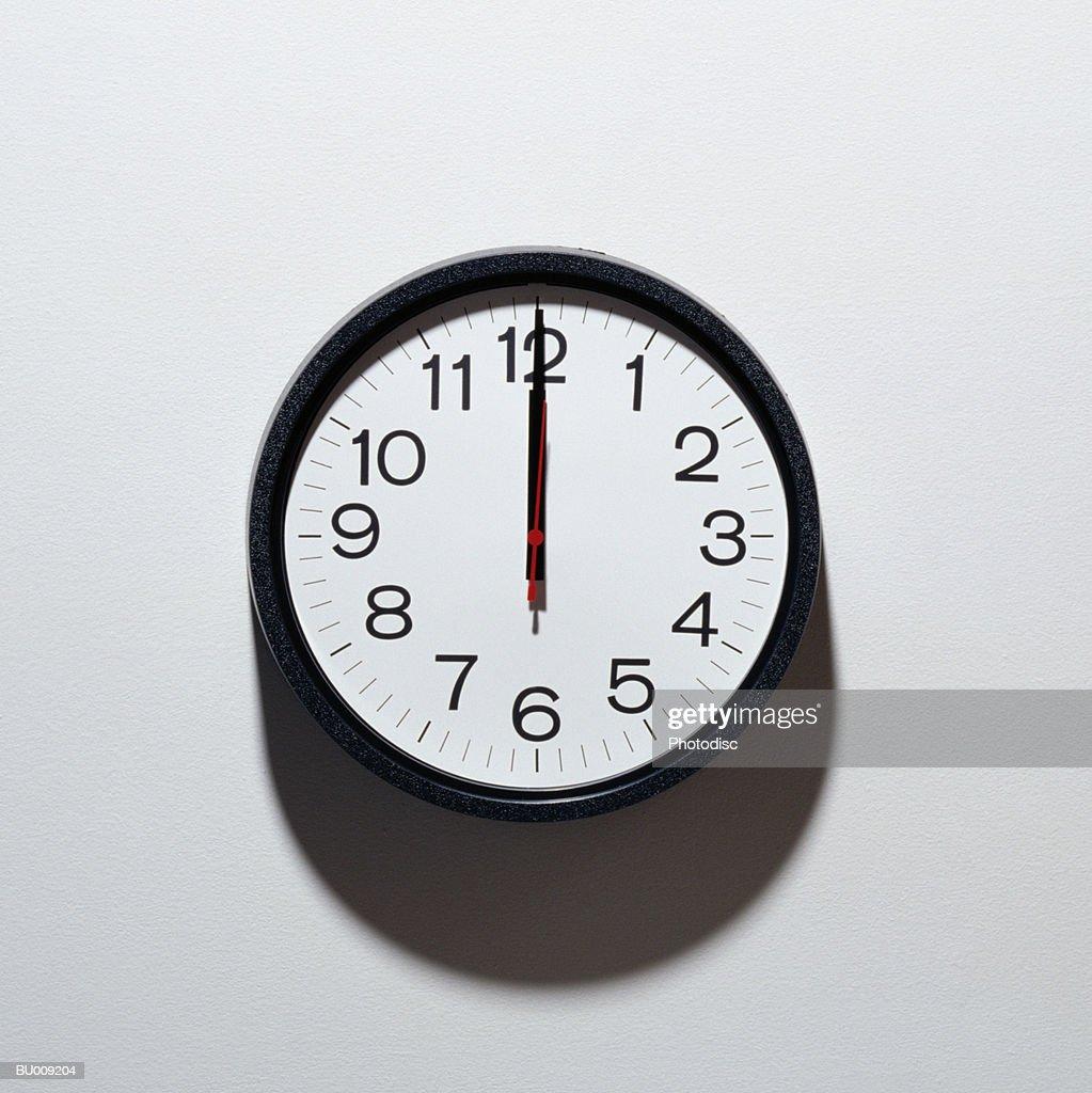 Clock Showing Twelve O'clock