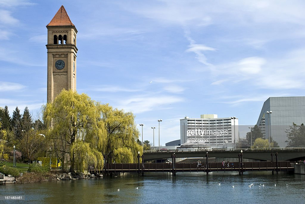 Clock tower at Riverfront Park in Spokane, Washington