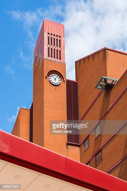 Clock tower at the British Library in London