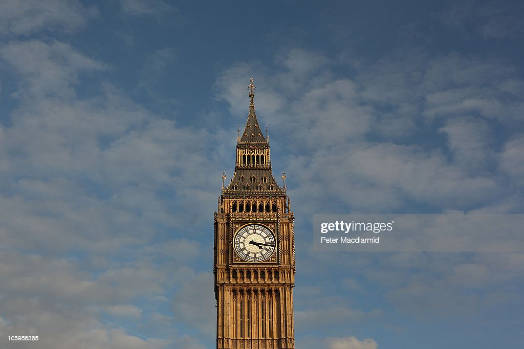 Clock Tower, better known as 'Big Ben', is bathed in afternoon sunshine at Parliament on October 22, 2010 in London, England.