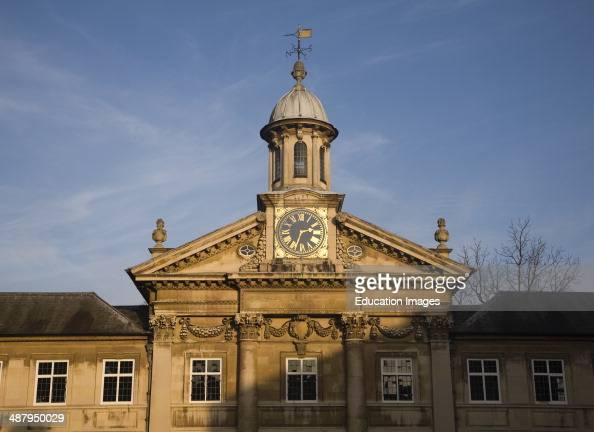 Clock tower Emmanuel College University of Cambridge England