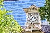 Clock Tower in Sapporo Hokkaido Japan