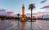 The clock tower is the official symbol of Izmir.It is located Konak Square. It was built in 1901 to commemorate the 25th anniversary of Abdul Hamid II's accession to the throne.
