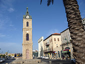 Clock Tower with stained glass in Jaffa.
