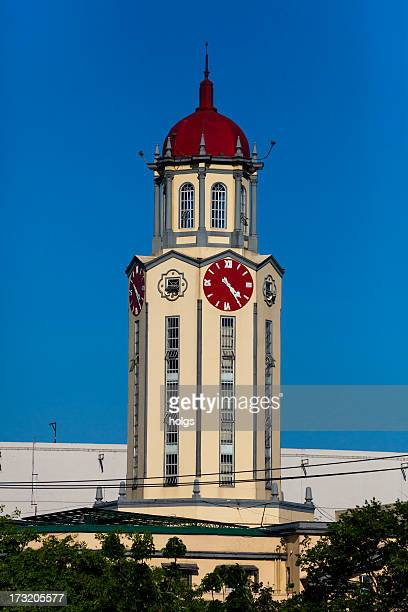 Nel quartiere della torre orologio della malato di Manila, Filippine