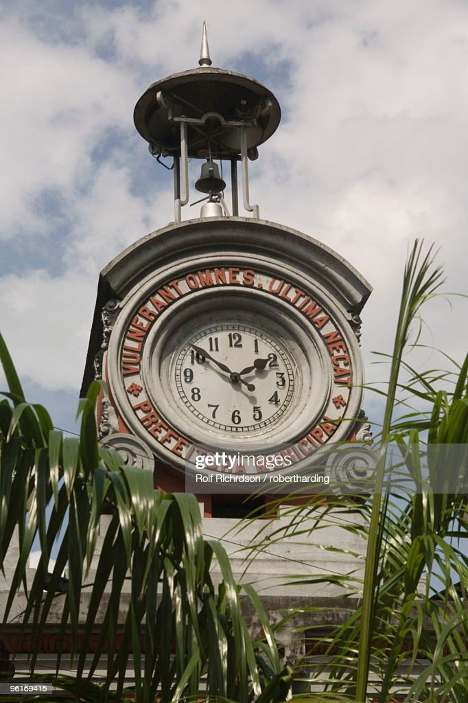 Clocktower, Manaus, Amazon, Brazil, South America : Stock Photo