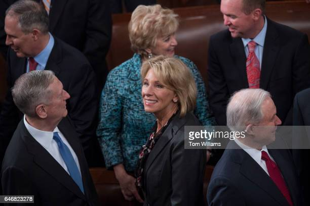 Clockwise from center Secretary of Education Betsy DeVos Defense Secretary James Mattis EPA Administrator Scott Pruitt SBA Administrator Linda...