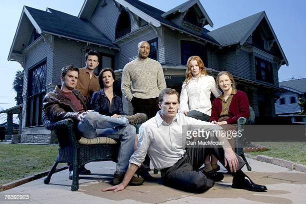 Mathew St Patrick Lauren Ambrose Frances Conroy Michael C Hall Peter Krause Rachel Griffiths and Freddy Rodriguez The Cast of 'Six Feet Under' by Dan...