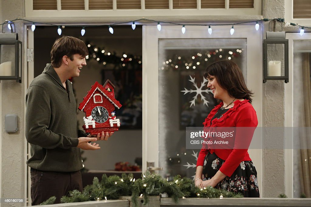 'Clockwise In Back Hole Until Tight' -- Walden and Alan are determined to convince Louis that Santa Claus is real, on TWO AND A HALF MEN, Thursday, Dec. 18 (9:01-9:30 PM, ET/PT), on the CBS Television Network. Pictured L-R: <a gi-track='captionPersonalityLinkClicked' href=/galleries/search?phrase=Ashton+Kutcher&family=editorial&specificpeople=202015 ng-click='$event.stopPropagation()'>Ashton Kutcher</a> as Walden Schmidt and <a gi-track='captionPersonalityLinkClicked' href=/galleries/search?phrase=Melanie+Lynskey&family=editorial&specificpeople=887429 ng-click='$event.stopPropagation()'>Melanie Lynskey</a> as Rose