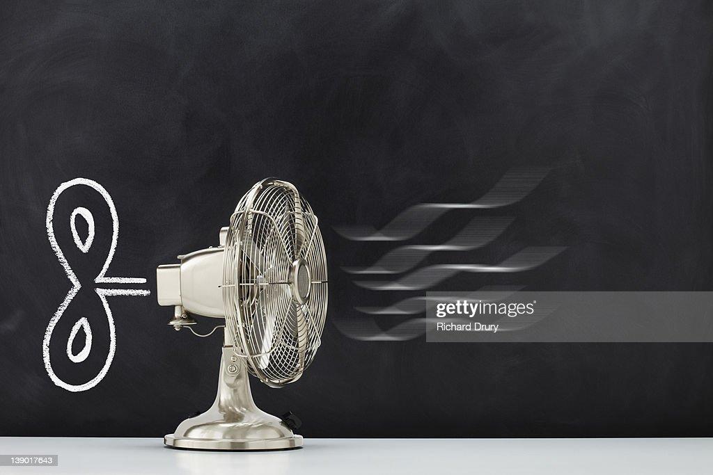 Clockwork Fan : Stock Photo