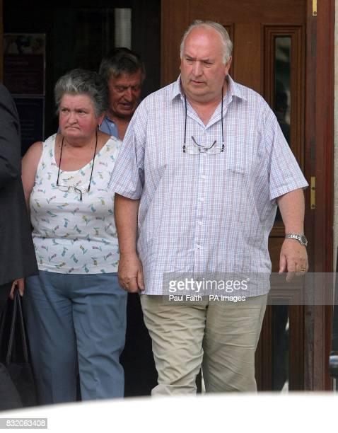 Clogher Valley caravan park owners Olive and Sidney Somerville leave Enniskillen Coroners court in Belfast