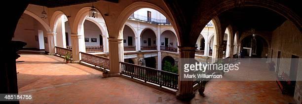 Cloistered balcony.