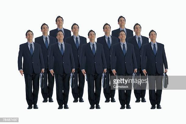 Cloned businessmen