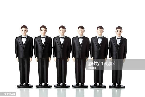 Clones homens em fatos