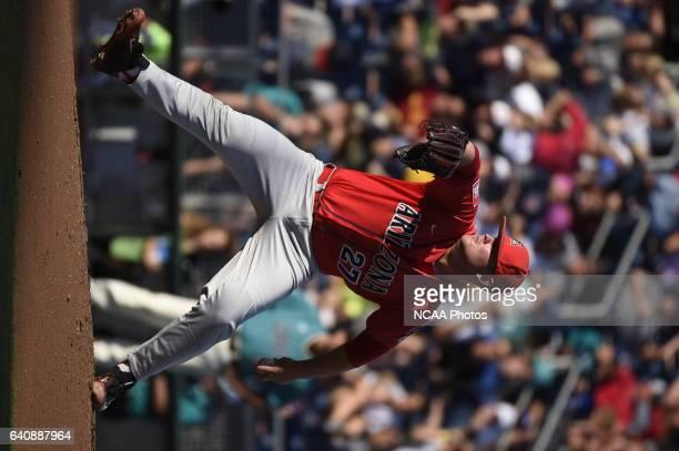 Cloney of University of Arizona delivers a pitch against Coastal Carolina University during the Division I Men's Baseball Championship held at TD...