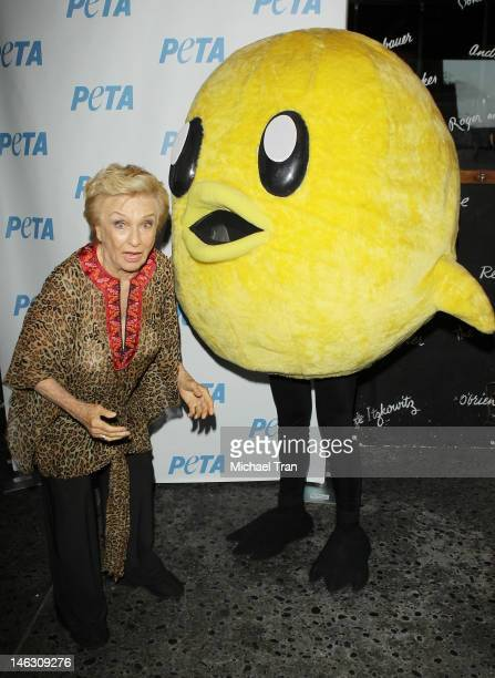 Cloris Leachman arrives at PETA's 'Stand Up for Animals' benefit held at The Comedy Store on June 13 2012 in West Hollywood California