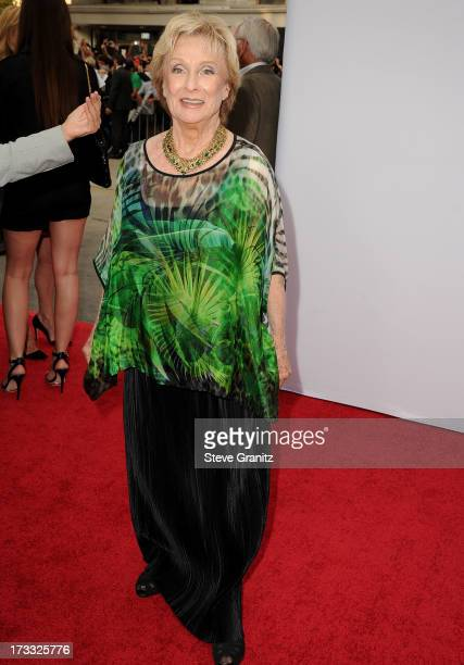 Cloris Leachman arrives at the 'RED 2' Los Angeles Premiere at Westwood Village on July 11 2013 in Los Angeles California