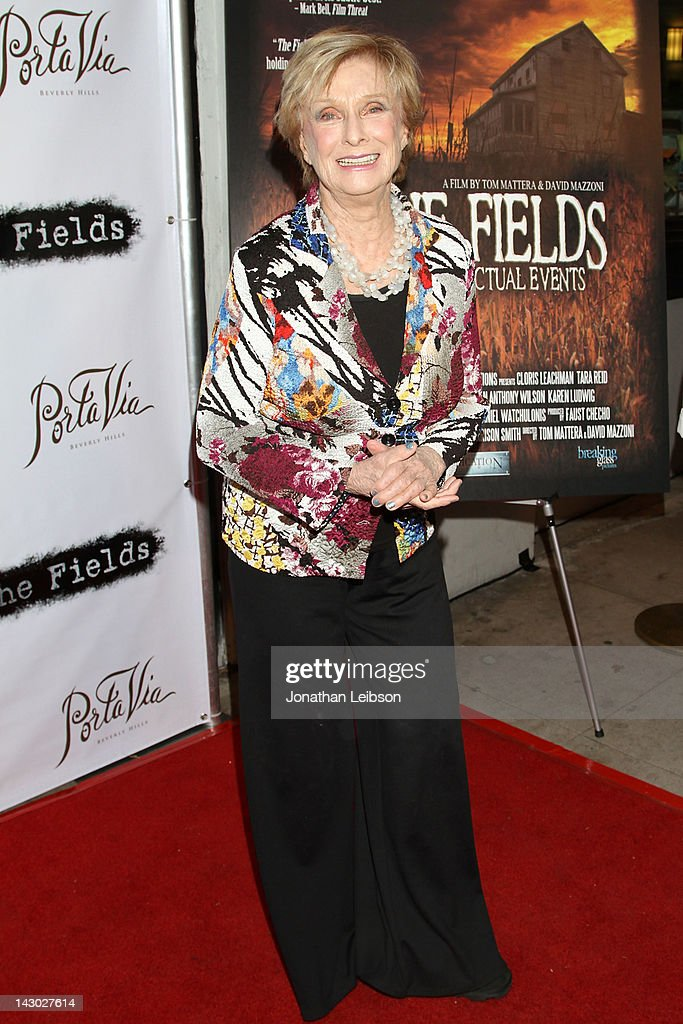 Cloris Leachman attends the 'The Fields' World Premiere From Breaking Glass Productions Starring Cloris Leachman And Tara Reid at Laemmle's Music Hall Theatre on April 17, 2012 in Beverly Hills, California.