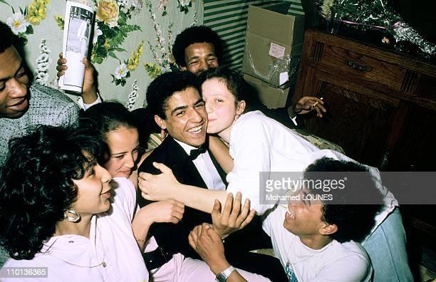 Close Cheb Mami Algerianborn Rai singer in Paris France on May 29 1986