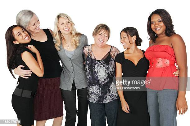 Close Group of Women Laughing Together