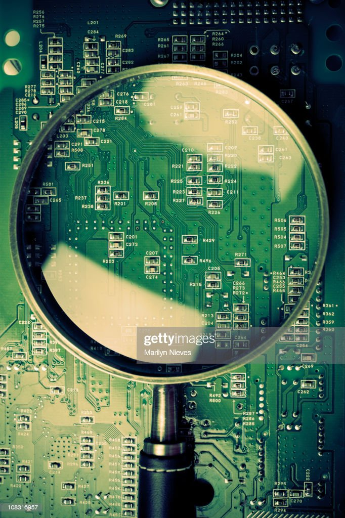 close look at technology : Stock Photo