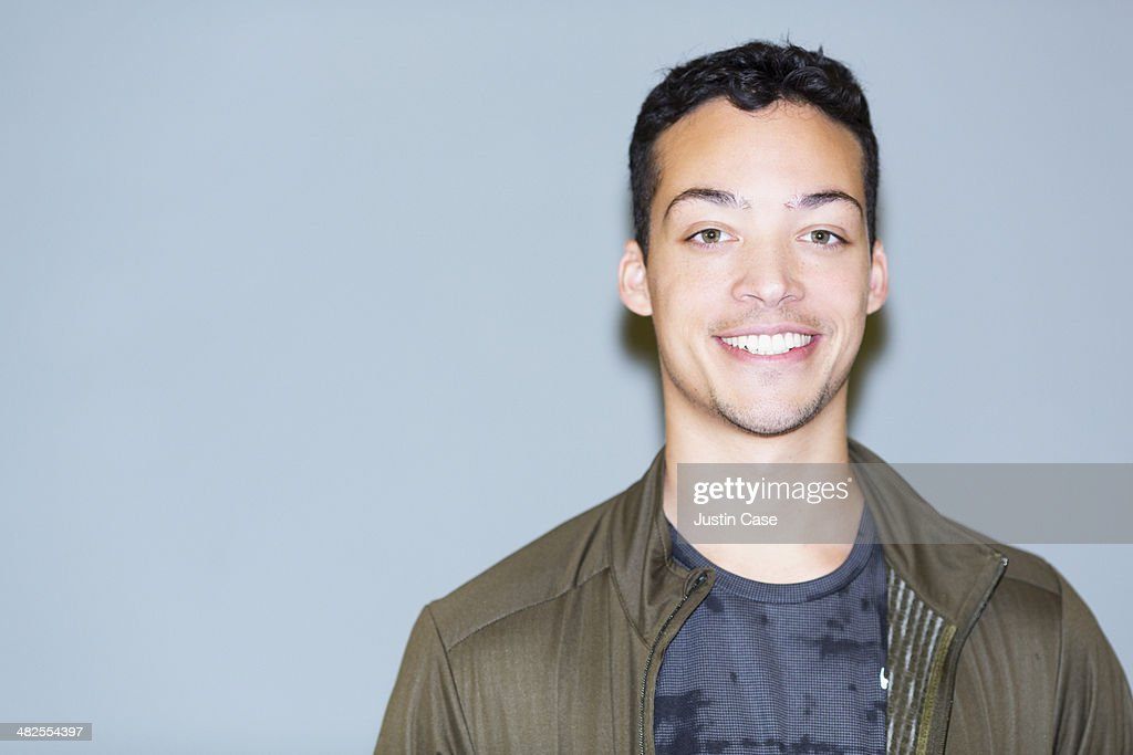 close portrait of a smiling man : Stock Photo