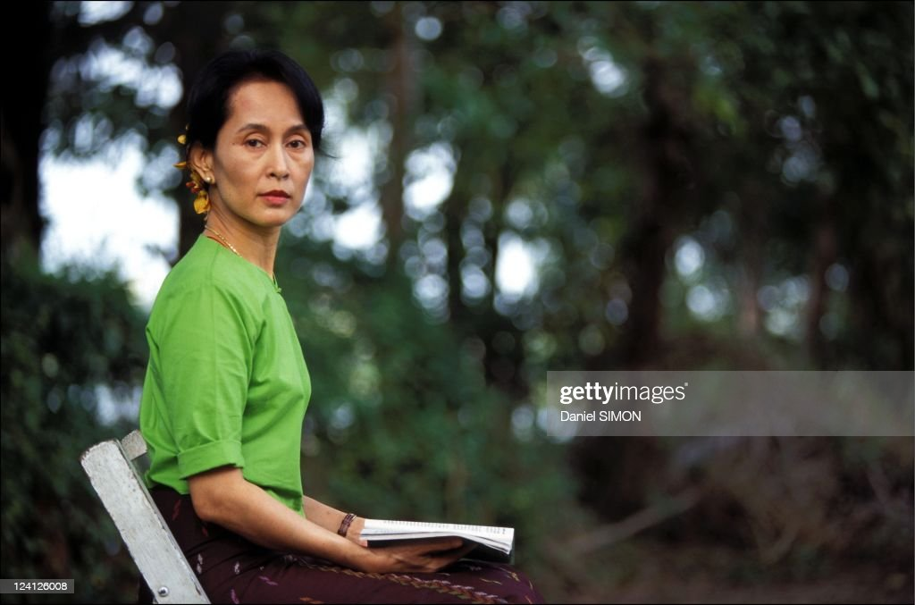 Close -up <a gi-track='captionPersonalityLinkClicked' href=/galleries/search?phrase=Aung+San+Suu+Kyi&family=editorial&specificpeople=214208 ng-click='$event.stopPropagation()'>Aung San Suu Kyi</a> in Myanmar in September, 1995.