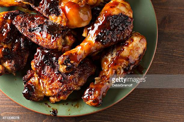 Close Up Barbecued Chicken