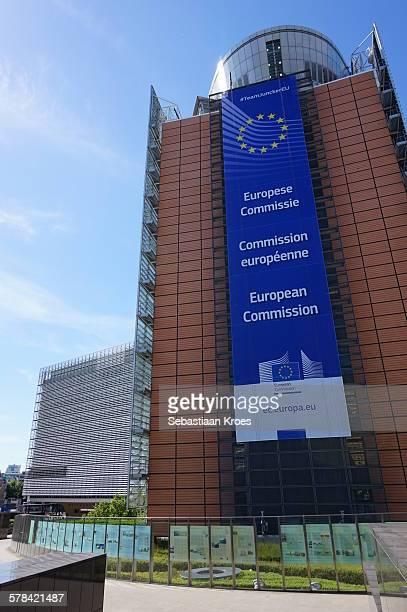 Close Up Berlaymont Building, Brussels, Belgium