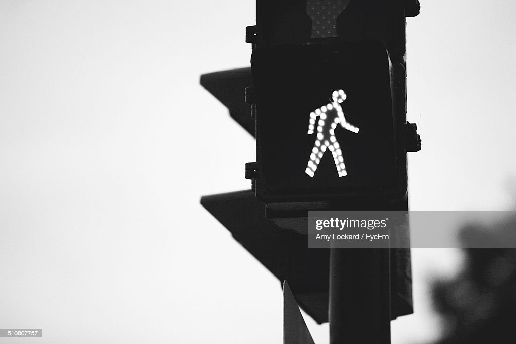 Close up black and white image of a semaphore