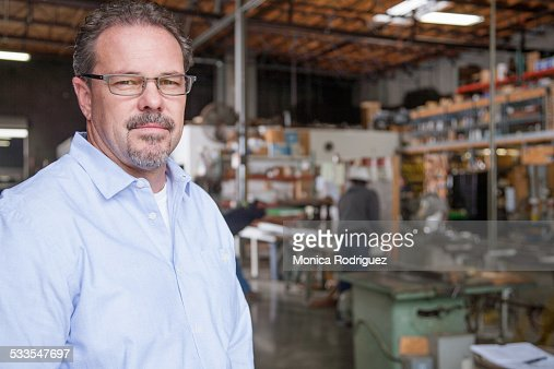 Close up business owner portrait