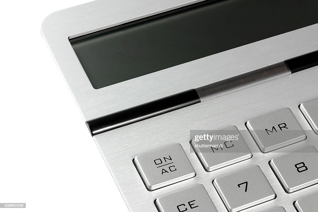 Close up calculator : Stock Photo