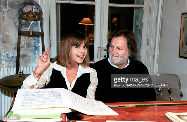 Close up Chantal Goya with family in Paris France on November 17 1999 Chantal Jean Jacques