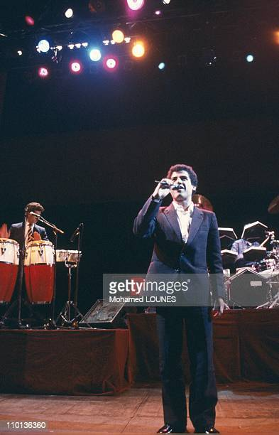 Close up Cheb Mami 'Rai' singer in Paris France on May 29 1986