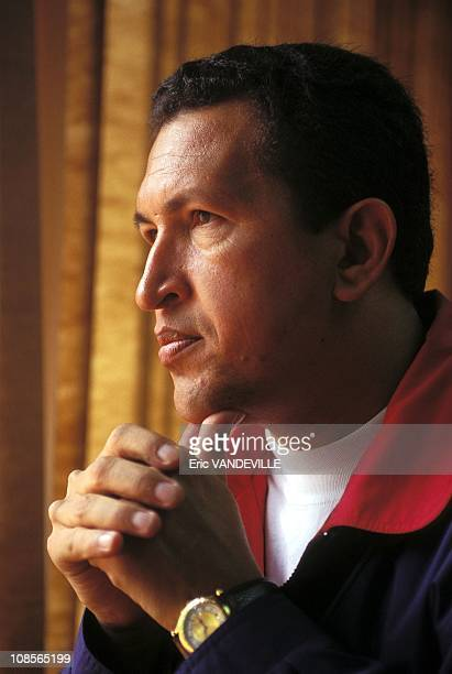 Close up Commandant Hugo Chavez in Caracas Venezuela in July 1996