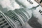 Close up dollar bill