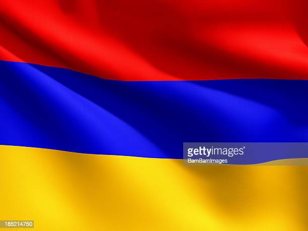 Close Up Flag - Armenia