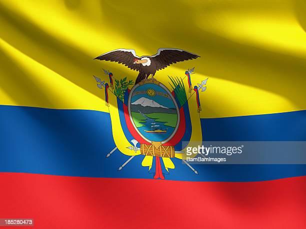 Close up Flag - Ecuador