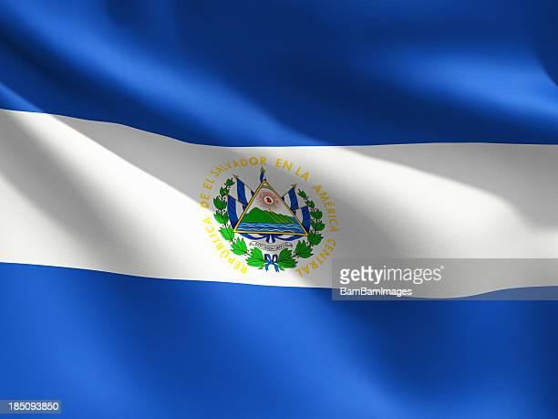 Primer plano de bandera de El Salvador