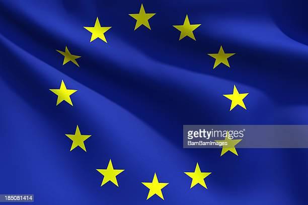 Gros plan du drapeau de l'Union européenne