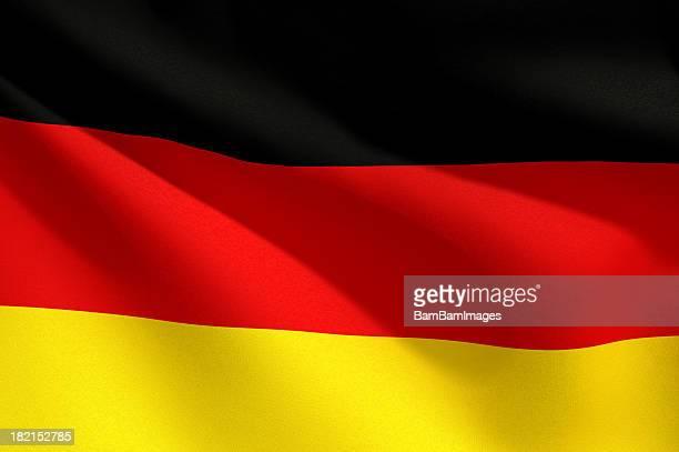 Nahaufnahme Flagge-Deutschland