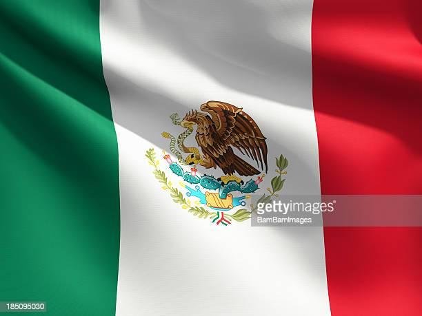 Primer plano de bandera de México