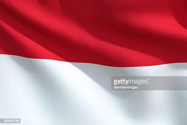 Close Up Flag - Monaco