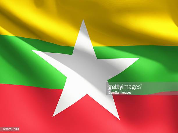 Close Up Flag - Myanmar