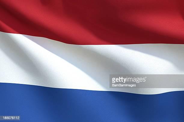 Primo piano di una Bandiera-Olanda