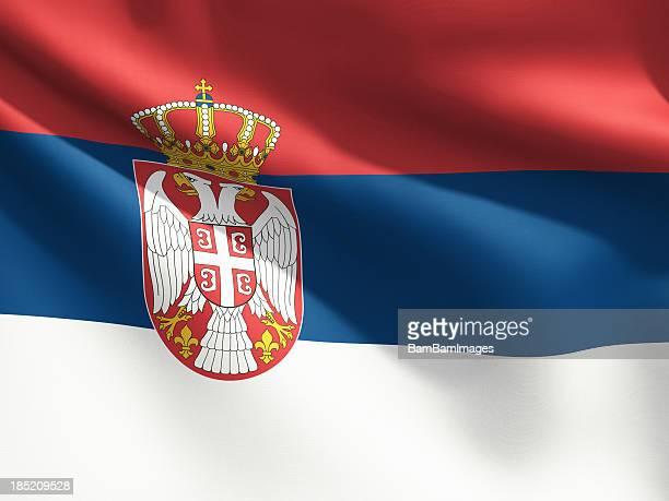 Close Up Flag - Serbia