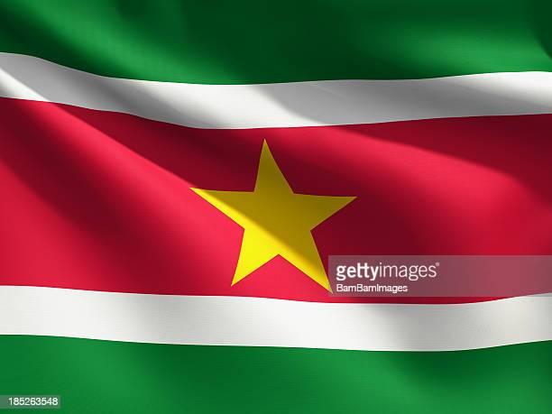 Close up Flag - Suriname